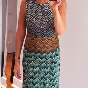 Missoni metallic embellished ombre dress